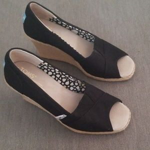 Toms Wedge Shoes-Open Toe